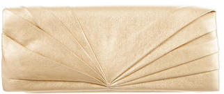 Christian Louboutin  Christian Louboutin Metallic Pleated Clutch