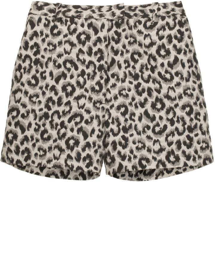 3.1 PHILLIP LIM Leopard Jacquard Cotton Shorts