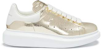 Alexander McQueen 'Larry' chunky outsole metallic leather sneakers
