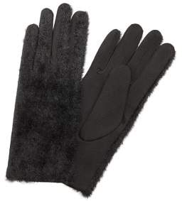 MANGO Faux fur combined gloves
