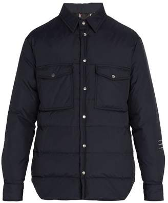 Moncler 7 Fragment - Quilted Down Overshirt Jacket - Mens - Navy