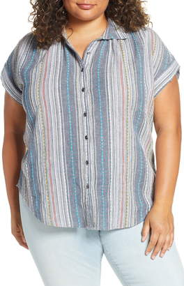 Caslon Stripe Camp Shirt