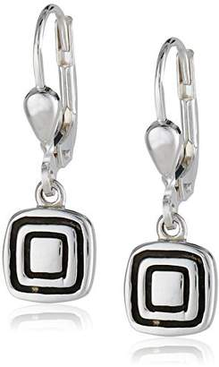 Zina Sterling Etched Square Earrings