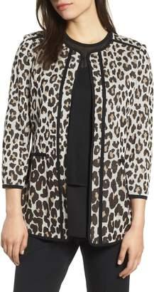 Ming Wang Leopard Print Jacket