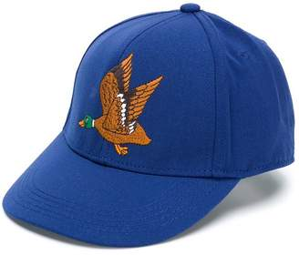 Mini Rodini duck-embroidered cap