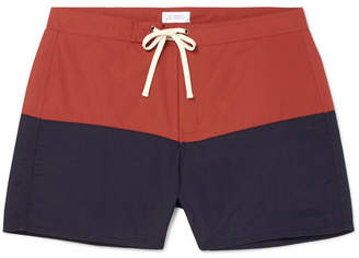 Saturdays NYC Ennis Short-Length Colour-Block Swim Shorts