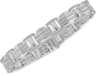 Macy's Men's Diamond Bracelet (1/2 ct. t.w.) in Sterling Silver
