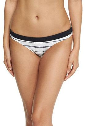 Heidi Klein Nassau Striped Hipster Swim Bottom, White $140 thestylecure.com