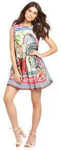 Replay Printed Dress In Multi Size L