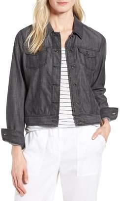 Eileen Fisher Crop Denim Jacket