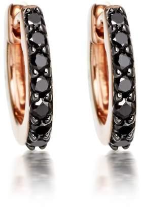 Astley Clarke Mini Halo Black Diamond Hoop Earrings