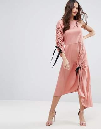 Asos Design One Shoulder Maxi Dress