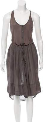 Raquel Allegra Drawstring-Accented Sleeveless Dress w/ Tags