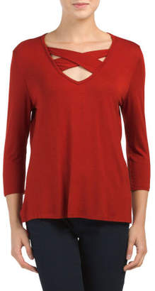 Made In Usa Criss Cross Front Top