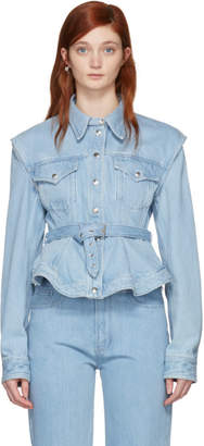 Marques Almeida Blue Denim Detachable Sleeve Jacket