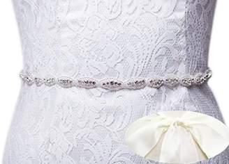 SoarDream Bridal Dress Sash, Rhinestone Bridal Belts, Wedding Belt, Bridal Sash.