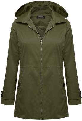 Zeagoo Women's Long Sleeve Raincoat Waterproof Jacket