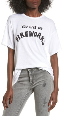 Women's Michelle By Comune You Give Me Fireworks Graphic Tee $30 thestylecure.com