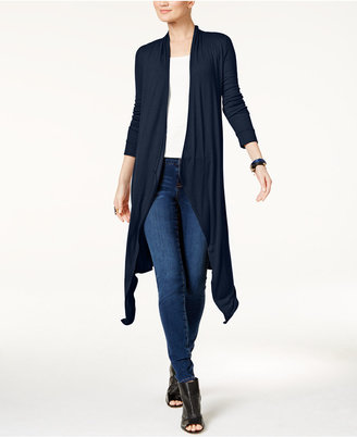 INC International Concepts Ribbed Duster Cardigan, Only at Macy's $59.50 thestylecure.com