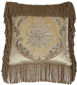 "Marquis Austin Horn Classics Framed Pillow with Bullion Fringe, 18""Sq."