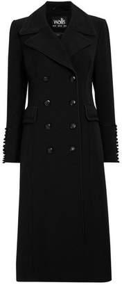 Wallis Black Double-Breasted Coat