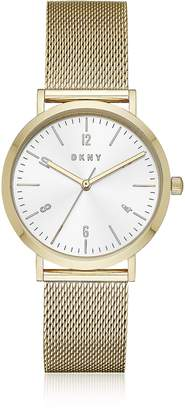 DKNY Minetta Gold Tone Stainless Steel Mesh Women's Watch