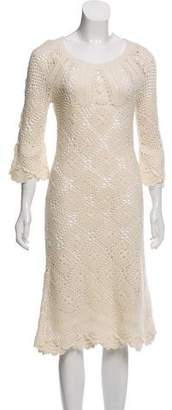Nicole Miller Crocheted Midi Dress