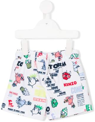 Kenzo novelty motif shorts