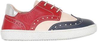 Momino Tricolor Brogue Nappa Leather Sneakers