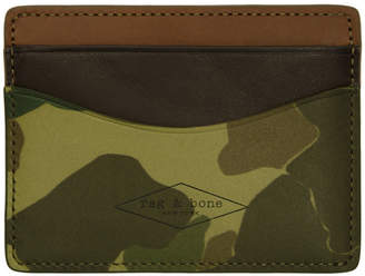 Rag & Bone Green Camouflage Hampshire Card Holder
