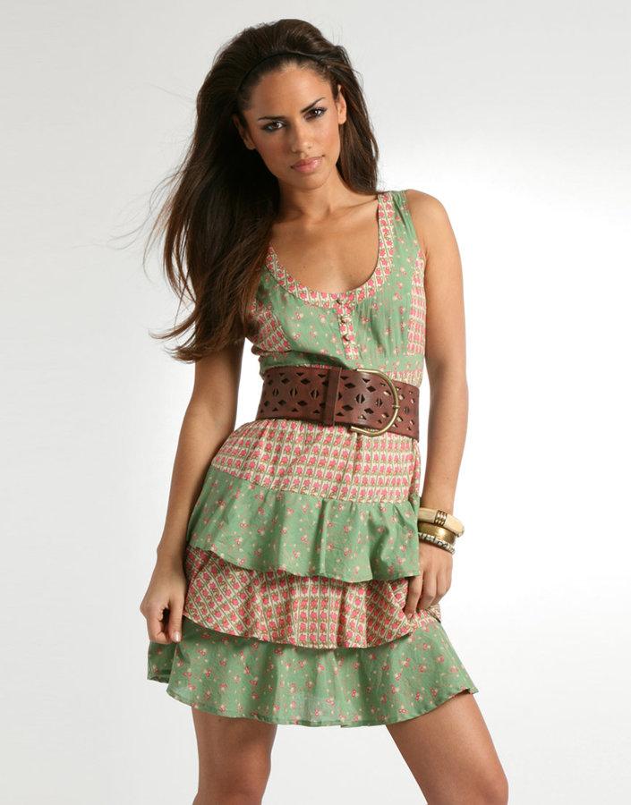 ASOS Star Print Patchwork Dress