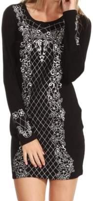 Sugar Lips Baroque Sweater Dress