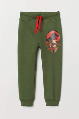 H&M Joggers with Printed Design - Green