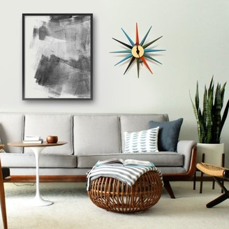 Mod Made Star Mid Century Modern Wall Clock