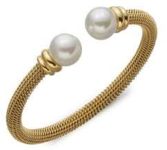 Majorica 12MM White Pearl Tipped Bracelet