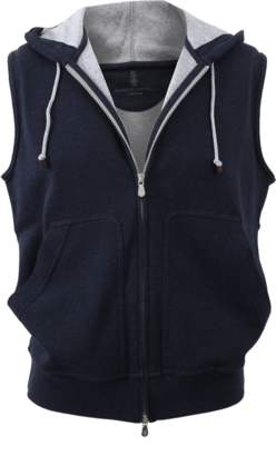 Brunello Cucinelli Hooded Zip Vest