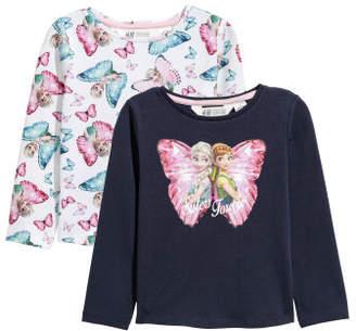 H&M 2-pack Long-sleeved Tops - Blue