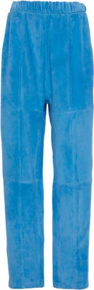 Sally LaPointe Lightweight Suede Seamed Track Pant