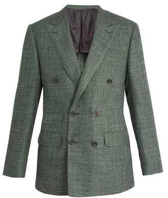 Thom Sweeney - Peak Lapel Wool Blend Blazer - Mens - Green