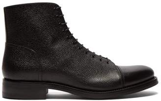 O'Keeffe Okeeffe - Algy Scout Grained Leather Lace Up Boots - Mens - Black