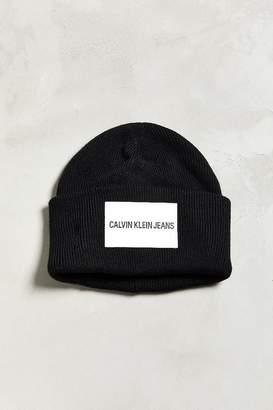 Calvin Klein Jeans Leather Patch Beanie