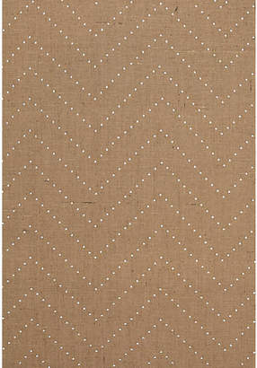 Colton Chevron Wallpaper - Natural/Silver - Celerie Kemble