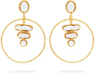 Mother of Pearl SYLVIA TOLEDANO Baroque mother-of-pearl hoop earrings