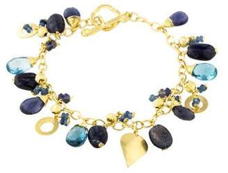 Farah Tanya 14K Multistone Dangling Link Bracelet