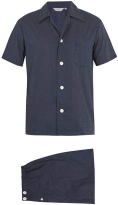 Derek Rose Plaza polka-dot print pyjama set