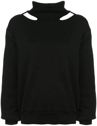 Unravel Project cut-out turtleneck sweater