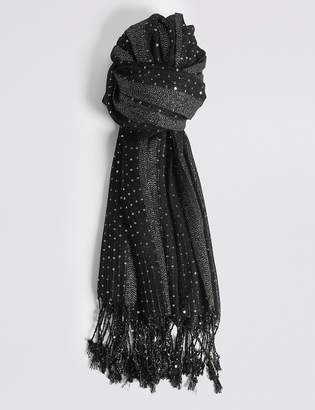 M&S CollectionMarks and Spencer Sequin Striped Scarf