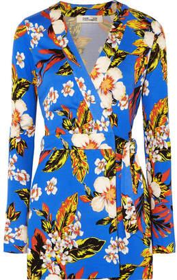Diane von Furstenberg Celeste Floral-print Silk-jersey Playsuit
