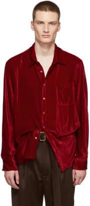 Sies Marjan Red Velvet Cord Sander Shirt