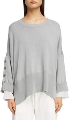 Yohji Yamamoto Y's by Button Sleeve Sweater